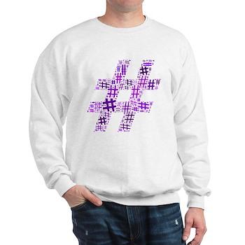 Purple Hashtag Cloud Sweatshirt