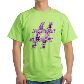 Purple Hashtag Cloud Light T-Shirt
