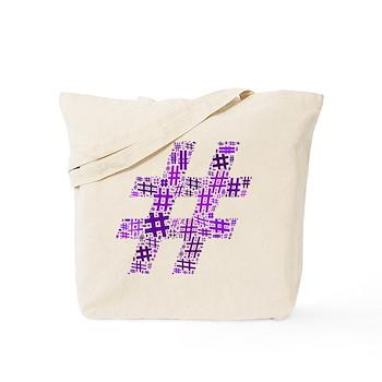 Purple Hashtag Cloud Tote Bag