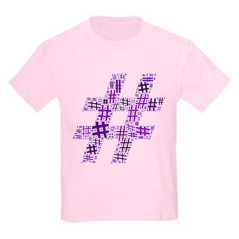 Purple Hashtag Cloud Kids Light T-Shirt