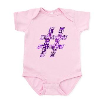 Purple Hashtag Cloud Infant Bodysuit