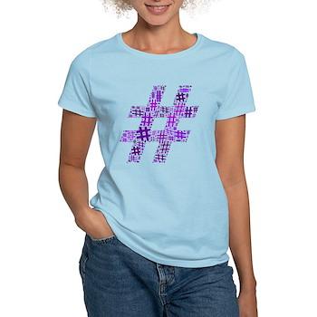 Purple Hashtag Cloud Women's Light T-Shirt
