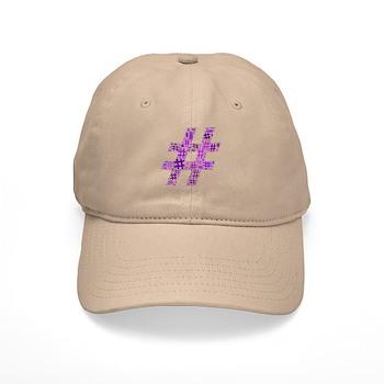 Purple Hashtag Cloud Cap