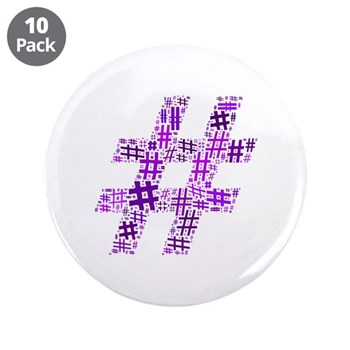 Purple Hashtag Cloud 3.5
