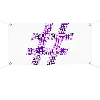Purple Hashtag Cloud Banner