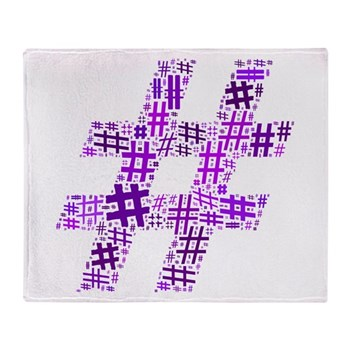Purple Hashtag Cloud Stadium Blanket