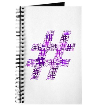 Purple Hashtag Cloud Journal