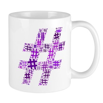 Purple Hashtag Cloud Mug