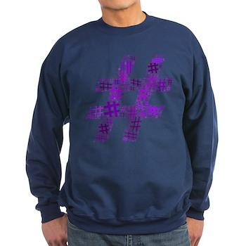Purple Hashtag Cloud Dark Sweatshirt