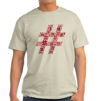 Red Hashtag Cloud Light T-Shirt