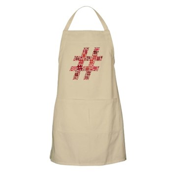 Red Hashtag Cloud Apron