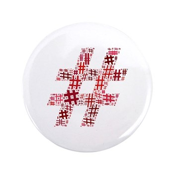 Red Hashtag Cloud 3.5