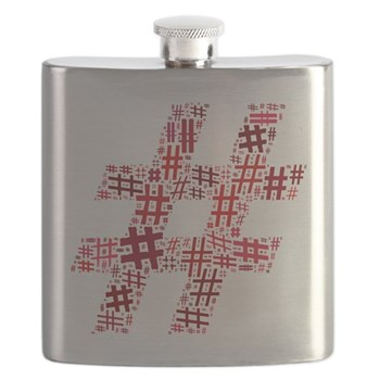 Red Hashtag Cloud Flask