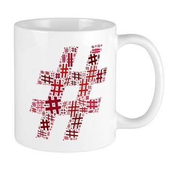 Red Hashtag Cloud Mug
