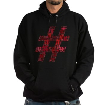 Red Hashtag Cloud Dark Hoodie