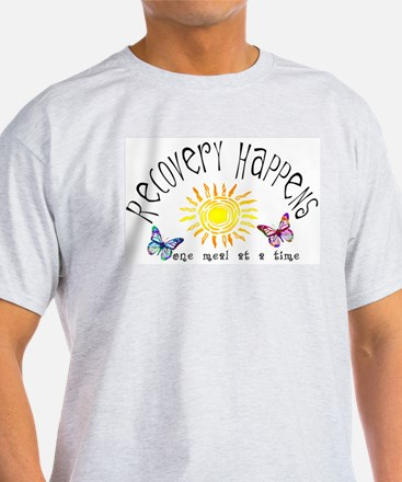Recovery Happens Ash Grey T-Shirt