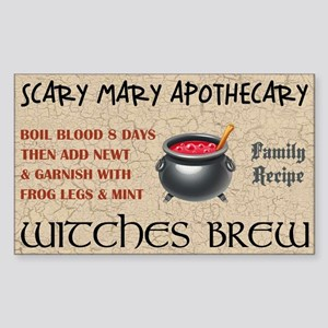 WITCHES BREW Sticker (Rectangle)