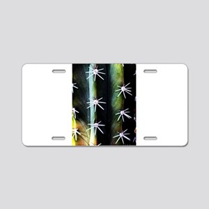 Cactus Needles Detail Aluminum License Plate