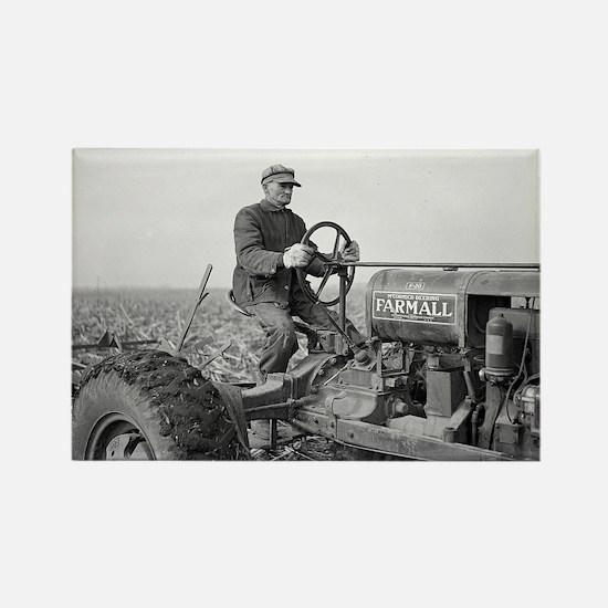 Farmer Driving Farmall F-20 Tractor, 1937 Magnets