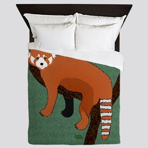 Red Panda Queen Duvet
