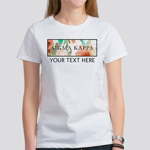 Sigma Kappa Floral Women's Classic White T-Shirt