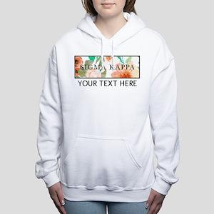 Sigma Kappa Floral Women's Hooded Sweatshirt