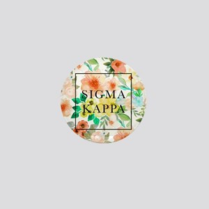 Sigma Kappa Floral Mini Button