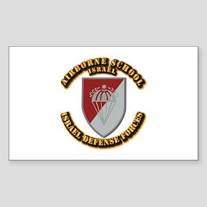 Airborne School Sticker (rectangle)