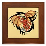 Winged Devil Tattoo Framed Tile