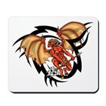 Winged Devil Tattoo Mousepad