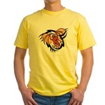 Winged Devil Tattoo Yellow T-Shirt