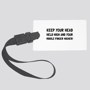 Middle Finger Higher Luggage Tag