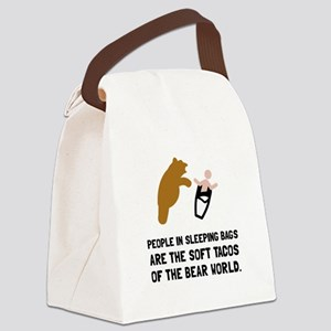 Soft Tacos Bear Canvas Lunch Bag