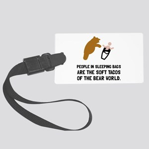 Soft Tacos Bear Luggage Tag