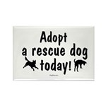 Adopt a Rescue Dog Today Rectangle Magnet (100 pac