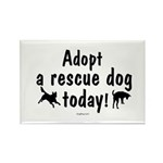 Adopt a Rescue Dog Today Rectangle Magnet (10 pack