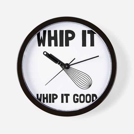 Whip It Good Wall Clock