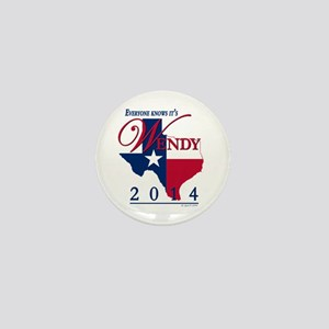 Wendy for Governor of Texas Mini Button