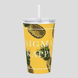 Sigma Kappa Pineapples Acrylic Double-wall Tumbler