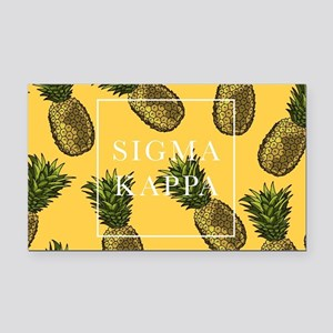 Sigma Kappa Pineapples Rectangle Car Magnet