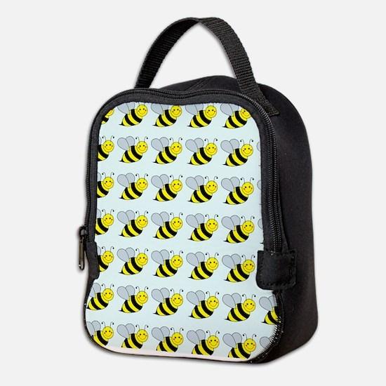 Unique Cute bee Neoprene Lunch Bag