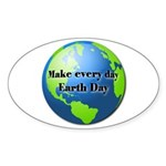 Make every day Earth Day Oval Sticker