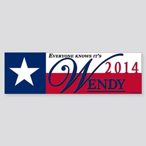Wendy for Governor of Texas Bumper Sticker