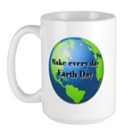 Make every day Earth Day Large Mug