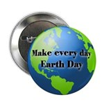 "Make every day Earth Day 2.25"" Button (10 pack)"