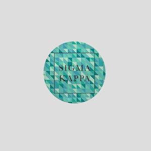 Sigma Kappa Geometric Mini Button