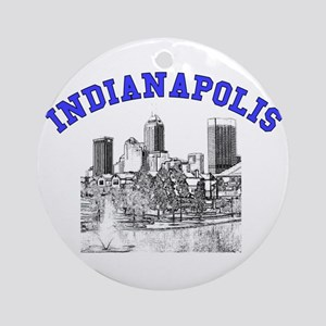 Indianapolis, Indiana Ornament (Round)