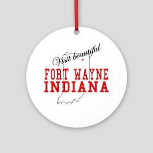 Visit Beautiful Fort Wayne, I Ornament (Round)