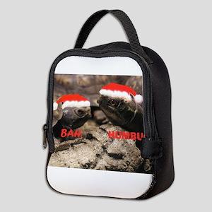 Bah Humbug Santa Turtles Neoprene Lunch Bag