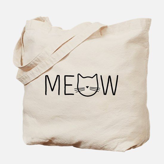 Meow cat face Tote Bag